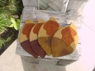 Acorn coaster set of 4