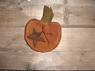Prim Pumpkin coaster set of 4-