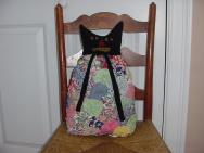 30s Fabric Yo Yo Cat Pillow