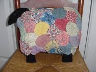 30s Fabric Yo Yo Sheep Pillow