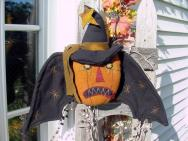 Bat Pumpkin Hanging