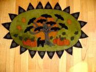 Bat Tree Penny Rug Kit