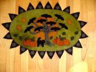 Bat Tree Penny Rug Kit