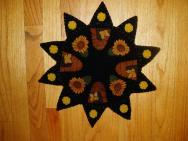 Beehive candle penny rug mat kit-