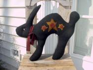 Black Scary Rabbit pillow
