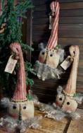 Candy Cane Santa ornies pattern