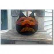 Black Cat pumpkin sill sitter-