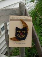 Cat and Moon Pin-