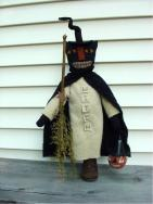 Cat witch on bobbin-