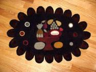 Reproduction Fruit Compote penny rug mat