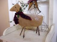 Large wool reindeer