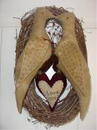 Love Birds on a wreath-
