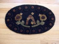 Oval Bee Skep Penny Rug Mat-