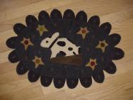 Reproduction rabbit penny rug mat
