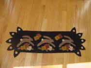Running Rabbit penny rug runner-