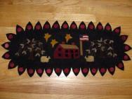 Saltbox House Penny Rug Runner-