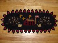Saltbox house penny rug runner kit