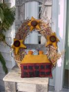 Saltbox House wreath